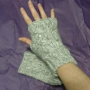 GAP Accessories - Gap fingerless mittens - gray with sequins. NWT!